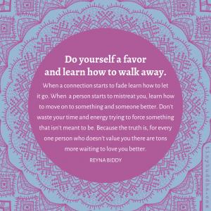 Learn How to Walk Away