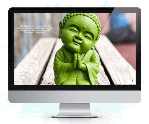 green buddha desktop wallpaper